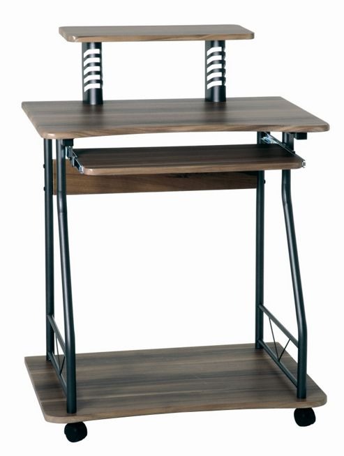 Urbane Designs Mette Computer Desk - Anthracite / Walnut Laminate