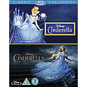 Cinderella Live Action/Cinderella Animation Double Pack Blu-ray