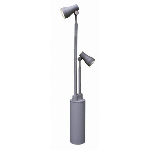 Garden Zone Beta LED Aluminium Twin Head in Matt Silver