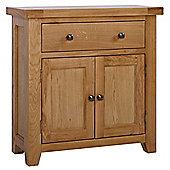 Rustic Grange Devon Oak Compact Sideboard