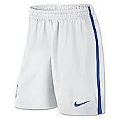 2014-15 Brazil Nike Away Shorts (White) - White