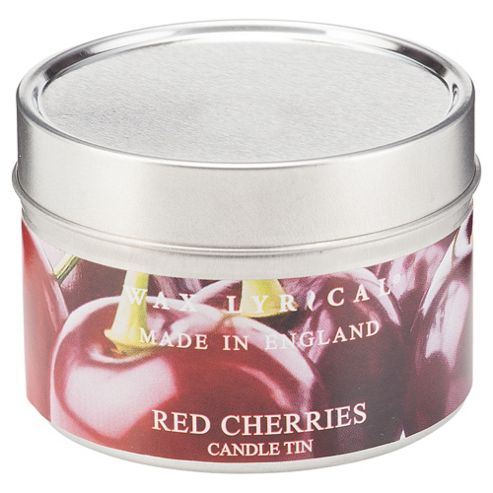 Wax Lyrical Made In England Tin Red Cherries