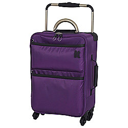 IT Luggage World's Lightest 4-Wheel Suitcase, Purple Magic Small