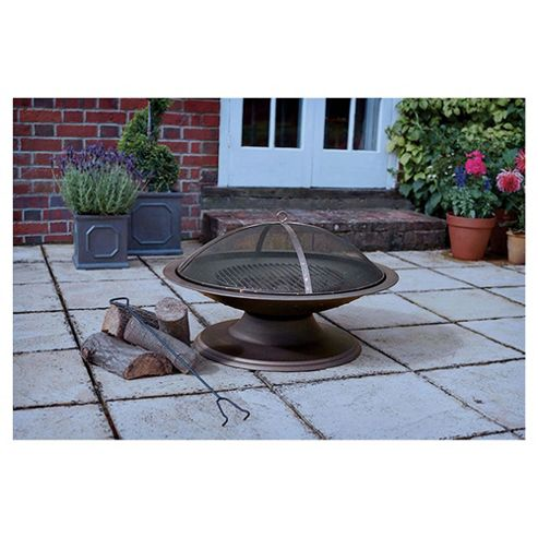 Tesco Large Round Metal Fire Pit