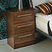 Welcome Furniture Sherwood 3 Drawer Chest with Locker - Walnut