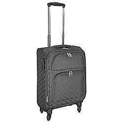 Tesco Lightweight 4-Wheel Small Zig Zag Suitcase