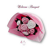 Flower Stork Welcome Bouquet Pink