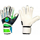 Uhlsport Ergonomic Soft Supportframe Comp. Goalkeeper Gloves - White