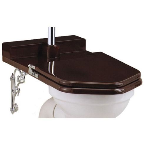 Burlington Mahogany Throne Seat for Low Level WC