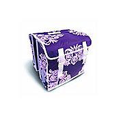 Basil Blossom Flower 35 Litre Rear Pannier Bags Lilac (Pair)