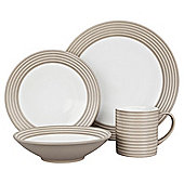 Denby Intro 4 Person, 16 Piece Dinner Set, Sand
