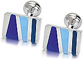 Square Mile London Limehouse Blue Cufflinks
