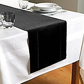 Country Club Hem Stitch Table Runner in Black