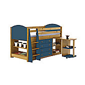 Verona Mid Sleeper Set 1 Antique With Blue Details
