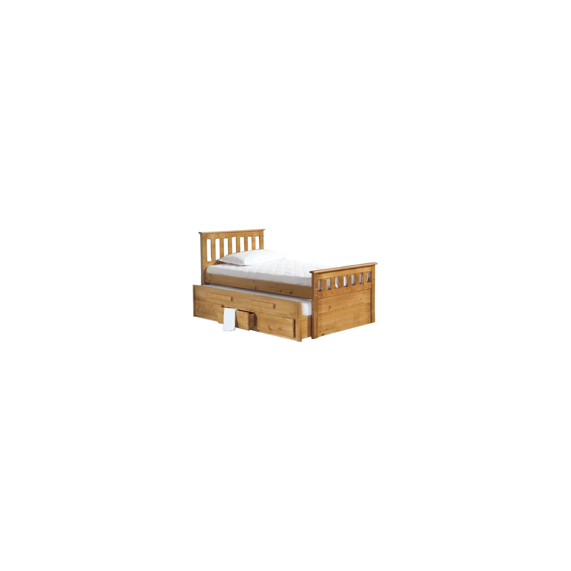 Verona Bergamo Captains Bed with Guest Bed - Antique at Tesco Direct