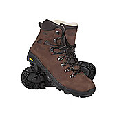 Mountain Warehouse Excalibur Men's Nubuck Walking Hiking Leather Boots with Vibram Soles - Brown