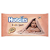 HUGGIES SOFT SKIN BABY WIPES 64