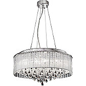 Franklite Spirit Eight Light Pendant in Chrome