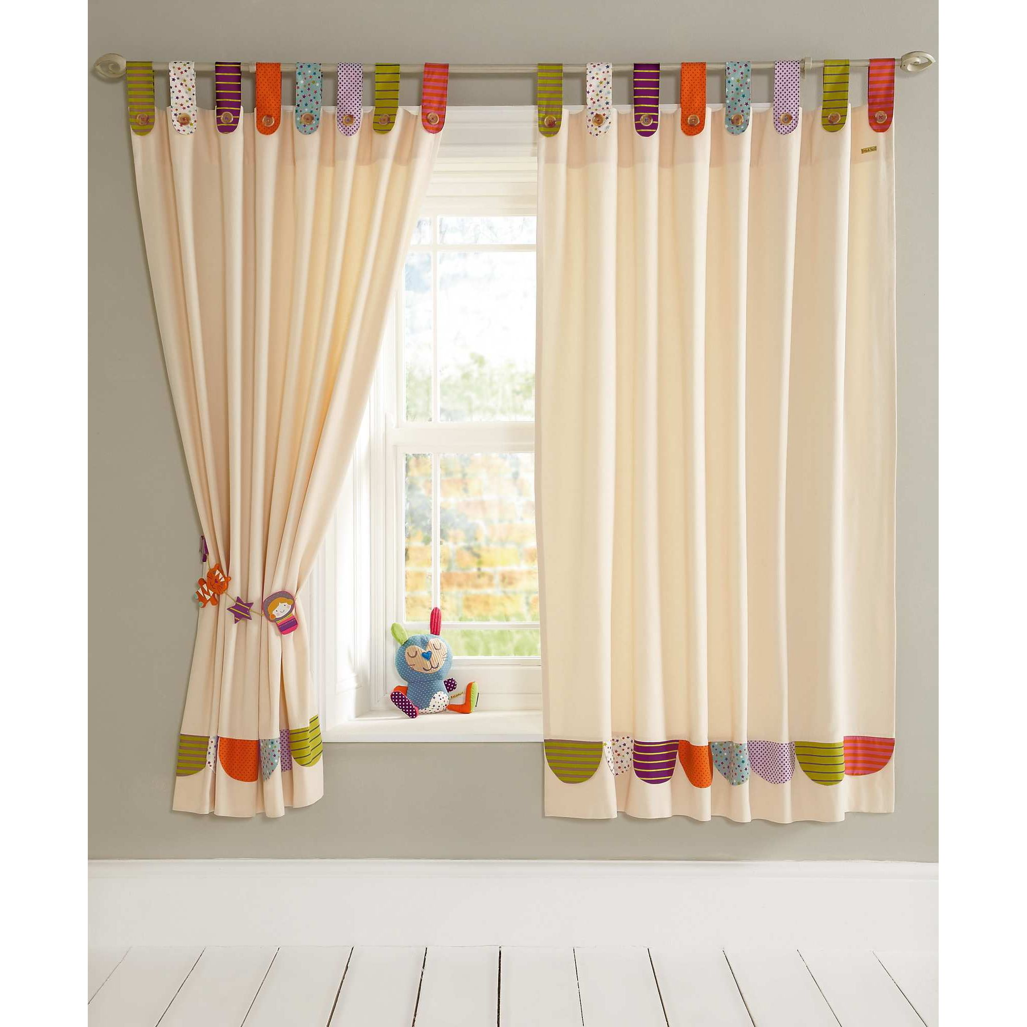 How to make tab top curtains - Mamas Papas Timbuktales Tab Top Curtains