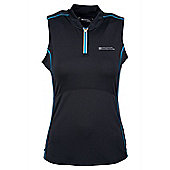 Tri Womens Vest Exercise Gym Running Walking Cycling Active Base Layer Top - Black