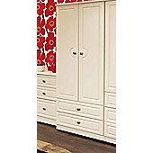 Welcome Furniture Pembroke Wardrobe with 2 Drawers - Light Oak - 74 cm