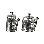 Parlane Set of Two Aluminium Tea & Coffee Pot Coat / Hat Hooks - 15cm