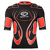 Optimum Inferno Rugby Body Protection Shoulder Pads Black/Red - Black
