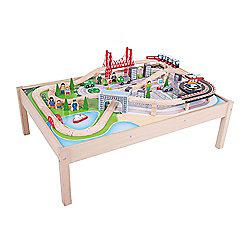 Bigjigs Rail City Train Set and Table