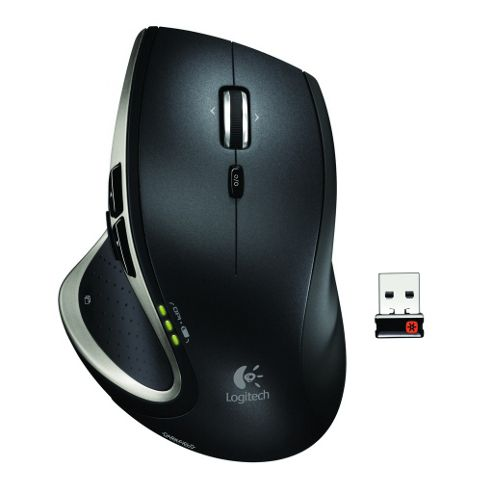 Logitech MX Wireless Performance Mouse (Tracks on Glass) - Black
