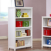 Hickory 4 Shelf Bookcase - White