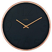 Acctim Copper & Black Wall Clock