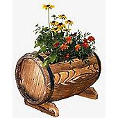 Barrel - Burntwood Barrel Shaped Garden Planter
