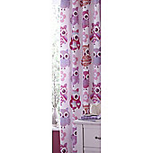 Catherine Lansfield Home Kids Cotton Rich Owl Tab Top Cotton Rich Curtains Multi 168cm wide x 183cm drop (66x72 inches)