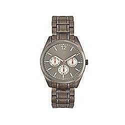 F&F Gunmetal Bracelet Watch