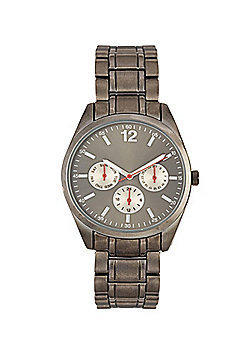 F&F Gunmetal Bracelet Watch