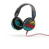 Hesh 2.0 Over-Ear Headphones with Mic Santa Fe Grey/Red/Aqua