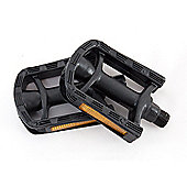 "Children Bike Bicycle Pedals - 1/2"" Black Resin - Side Reflectors Bs Standards"