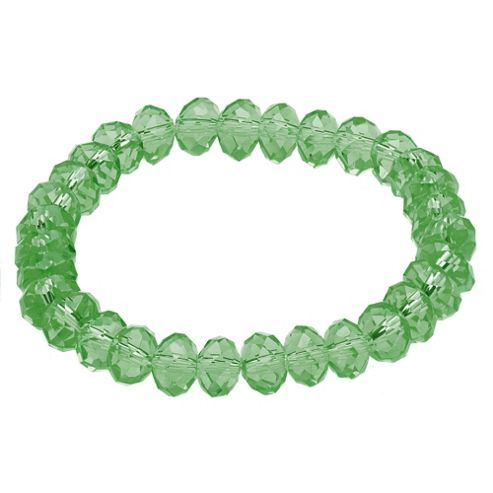 Light Green Glass Bead Stretch Bracelet