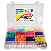 Amazing Loom Bands Kit Complete Collection Organizer Storage Kit Includes, Loom & Tool 3,600 Bands +150 Clips & 6 Charms