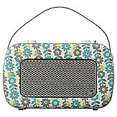 Kitsound Jive DAB/FM Radio, Flowers