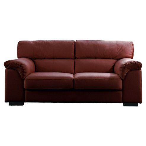 Galileo Large Leather Sofa Chestnut