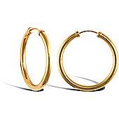 9ct Yellow Gold Hoop Earrings - 25.2mm