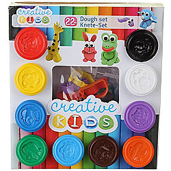 22 Piece Dough Animal Craft Set for Kids Play Doh Shapes