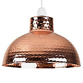 Martillo Hammered Effect Insutrial Style Ceiling Pendant Light Shade, Copper