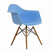 Charles Eames Inspired Eiffel DAW Blue Dining Chair
