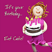 Holy Mackerel Happy Birthday. Its Your Birthday, Eat Cake Greetings Card