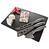 Occasion Slate Cheese Board with 3 Stainless Steel Knives