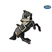 Armoured Reared Up Horse - BLACK - Knights - Papo