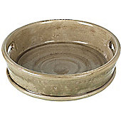 Parlane Ceramic Brown Aged Pyrenees Plate / Plant Pot With Handles - 8 x 31cm