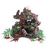 Dinosaur Volcano Playset - 27 Pieces